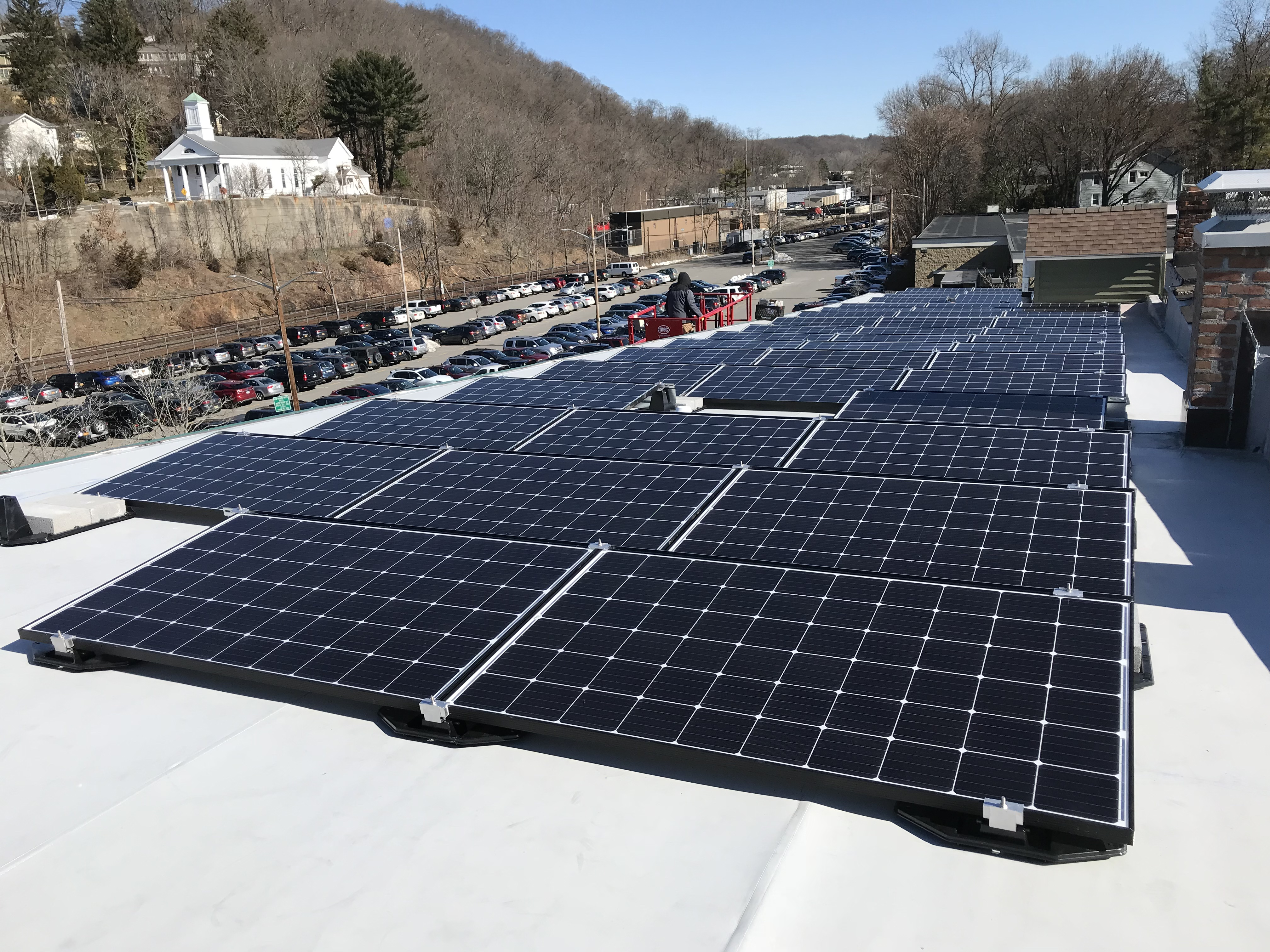 Solar For Low Pitch Roof With Tpo Membrane Croton Energy Group Inc